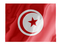Tunisia fluttering. Fluttering image of the Tunisian national flag Stock Photo
