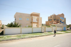 Tunisia house in Sidi Ali Ben Aoun Stock Photography