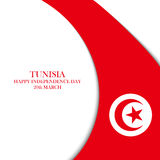 Tunisia Independence Day, 20 march greeting card. Stock Photos