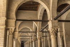 Tunisia Kairouan mosque. Muslim arabic worship Royalty Free Stock Photo