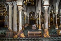 Tunisia Kairouan mosque. Muslim arabic worship Royalty Free Stock Images