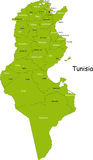 Tunisia map Royalty Free Stock Photos