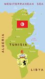 Tunisia map. Stock Photography