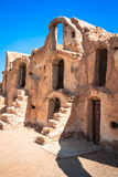 Tunisia. Medenine. Fragment of old Ksar located inside village. There were formerly fortified granaries (Ghorfas Royalty Free Stock Image