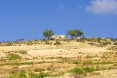 Tunisia mountains. Landscape of arid Tunisian mountains with trees Stock Image