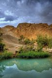 Tunisia mountian oasis Stock Photos