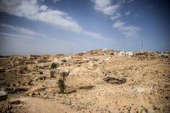 Tunisia oasis town. Field trip sun Royalty Free Stock Image