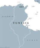 Tunisia political map Stock Photo