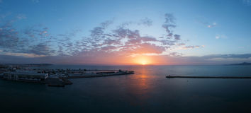 Tunisia port on the morning Royalty Free Stock Images