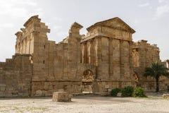 Tunisia Sbeitla. Roman city ruins temples Stock Photography
