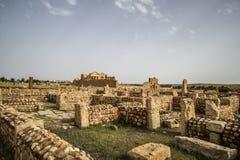 Tunisia Sbeitla. Roman city ruins temples Royalty Free Stock Photos