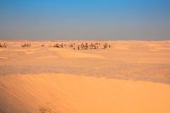 Tunisia. Somewhere on Sahara desert near Douz... Royalty Free Stock Images