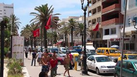 Tunisia. SOUSSE, JULY 9, 2010: People in the street in Sousse, , July 9, 2010 stock video
