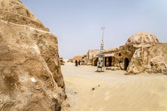 Tunisia star wars. Movie decorated alien planet Stock Photo