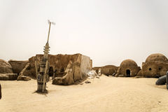 Tunisia star wars. Movie decorated alien planet Stock Photography