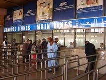 TUNISIA, TUNIS - MAY 11, 2013. Cashdesk of the Tunis railway station Royalty Free Stock Photography