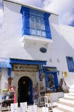 Tunisia, White and Blue Traditional Gift Shop, Arabic Architecture Royalty Free Stock Photos