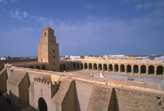 Tunisian ancient city view Stock Photos