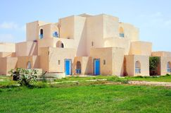 Tunisian beach house Stock Images