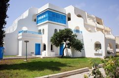 Tunisian beach house Royalty Free Stock Photos