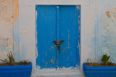 Tunisian blue doors Stock Image
