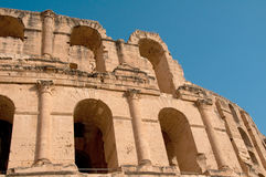 Tunisian Colosseum - dilapidated arches Stock Image