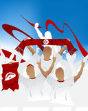 Tunisian crowd Stock Images