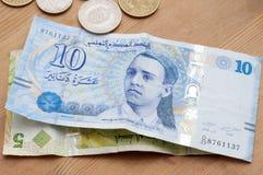 Tunisian currency, Tunisian dinars Royalty Free Stock Photos