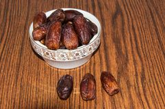 Tunisian Dates or Phoenix dactylifera Stock Photo