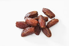 Tunisian dates on white background Stock Images