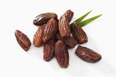 Tunisian dates on white background Royalty Free Stock Images