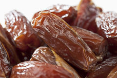 Tunisian dates on white background, close up Stock Photography