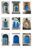 Tunisian doors Royalty Free Stock Photography