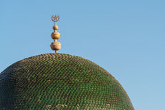 Tunisian Emblem on Roof. Symbol of Tunisia on Green Domed Roof Royalty Free Stock Image