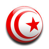 Tunisian flag. In the style of a ball Royalty Free Stock Image