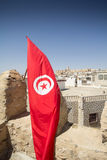 Tunisian flag in Sousse Stock Photo