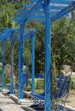 Tunisian garden. Photo taken in the village of Sidi Bou Saïd, Tunisia Stock Photo