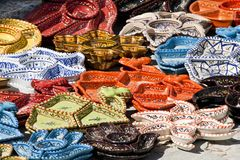 Tunisian hand painted ceramics Stock Photo