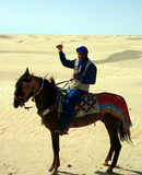 Tunisian on a horse Royalty Free Stock Images