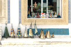 Tunisian Lamps at the Market in Djerba Tunisia Stock Image