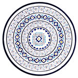 Tunisian plate with traditional pattern Stock Photos