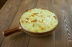 Tunisian Potato-Meat Pie. African cuisine Stock Image