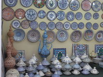 Tunisian pottery at Global Village in Dubai, UAE Stock Image