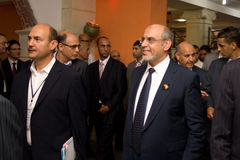 Tunisian Prime Minister opening ICT4ALL. Hammamet – September 19: Mr Hamadi Jebali, Head of the Tunisian Government at the inauguration of the ICT4ALL Royalty Free Stock Photos