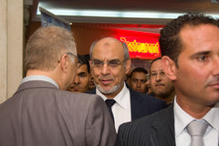 Tunisian Prime Minister opening ICT4ALL. Hammamet – September 19: Mr Hamadi Jebali, Head of the Tunisian Government at the inauguration of the ICT4ALL Royalty Free Stock Images