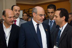 Tunisian Prime Minister opening ICT4ALL. Hammamet – September 19: Mr Hamadi Jebali, Head of the Tunisian Government at the inauguration of the ICT4ALL Stock Image