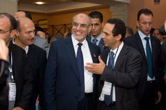 Tunisian Prime Minister opening ICT4ALL Stock Photography