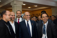 Tunisian Prime Minister opening ICT4ALL. Hammamet – September 19: Mr Hamadi Jebali, Head of the Tunisian Government at the inauguration of the ICT4ALL Royalty Free Stock Photography