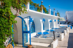 Tunisian restaurant's close-up. Sidi Bou Said - town in northern Royalty Free Stock Image