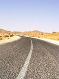 Tunisian road Royalty Free Stock Images